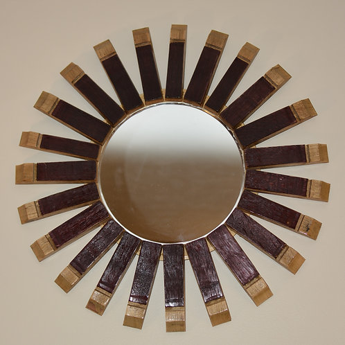 Sunburst Stave End Mirror