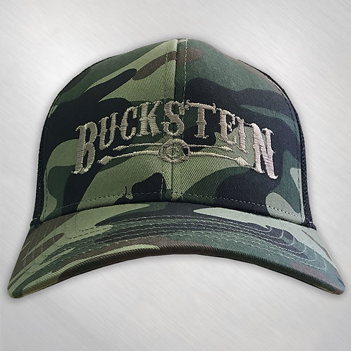 """Buckstein Logo"" Trucker Hat - Camo/Black"