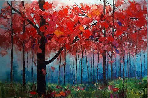 """Embracing Autumn - 40"""" x 60"""""""