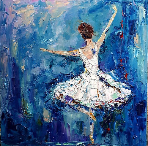 "She Danced Her Dreams For Him - 36"" x 36"""