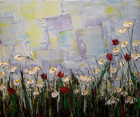 "The Wild Flowers All Around Her Were Suddenly A Part Of Her - 20"" x 24"""