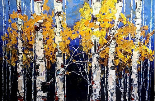 "A Walk In The Trees walks My Soul Back Home -  40"" x 60"""