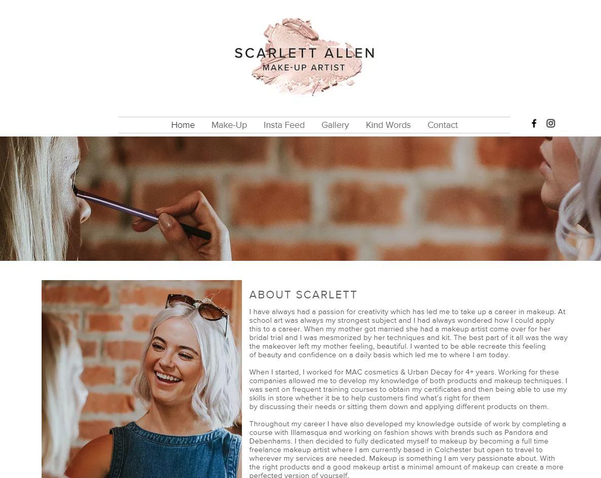 Scarlett Makeup Artist screenshot 1