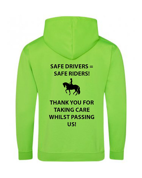 Safe Drivers Neon Hoodie