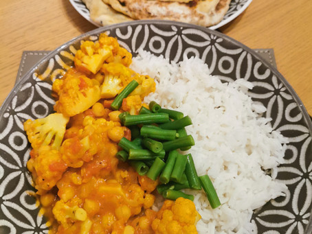 Vegan Cauliflower, Potato and Chickpea Curry