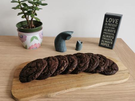 The Best Vegan Double Chocolate Cookies