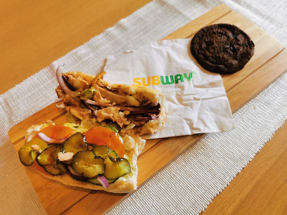 Subway's vegan T.L.C sandwich opened up