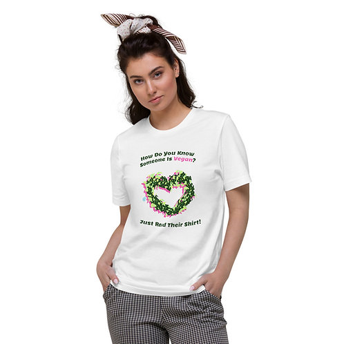 How to tell someone's Vegan Organic Cotton T-Shirt