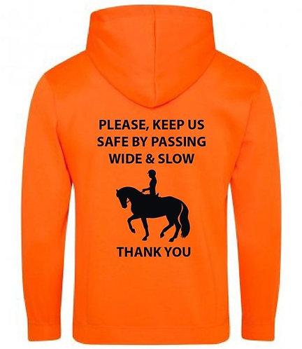 Keep Us Safe Neon Hoodie