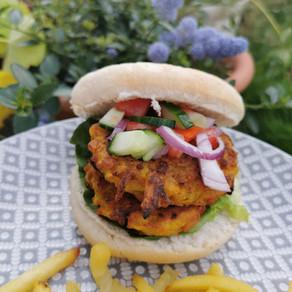 Vegan Indian-style burger