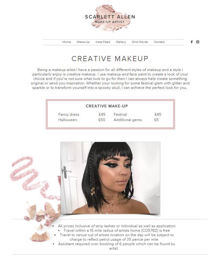 Scarlett Makeup Artist screenshot 4