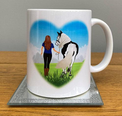 Equestrian Heart Mug