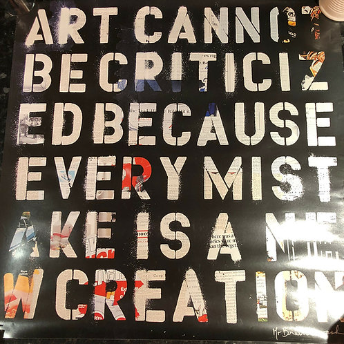 "Mr Brainwash ""Art Cannot be criticised...'"