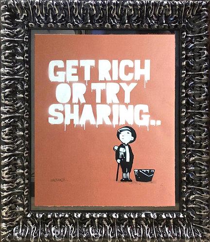 """Mau Mau """"Get Rich or Try Sharing"""""""
