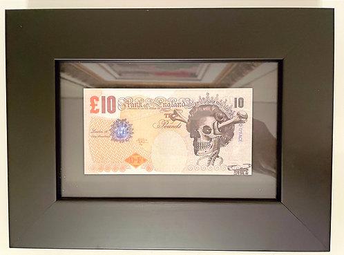 "D*Face ""Ten Pound Note"""