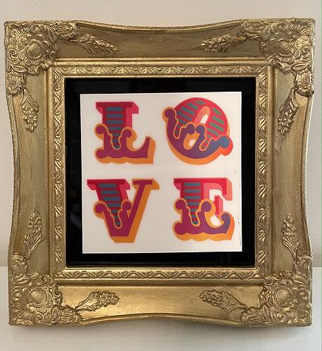 """Ben Eine """"LOVE"""" Gold"""