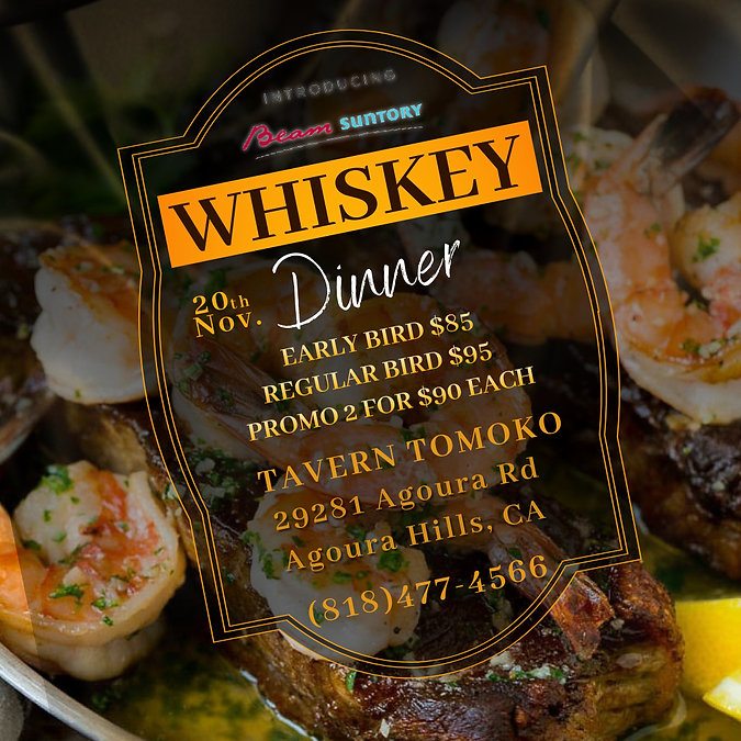Whiskey Dinner Price - Made with PosterM