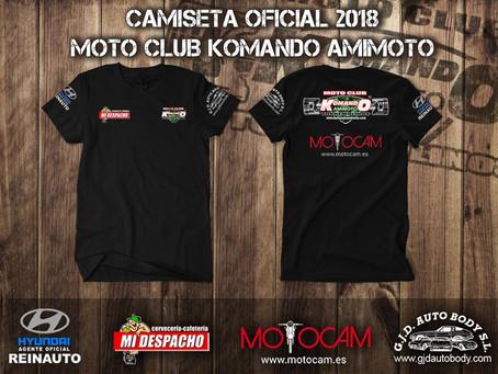 Camiseta Oficial 2018 Moto Club.
