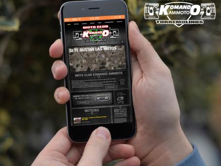 Nueva web Moto club Komando Amimoto