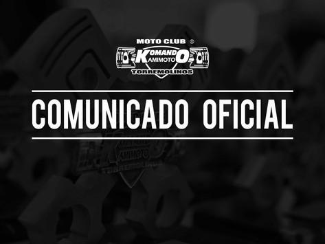 Comunicado oficial cancelación de la Concentración Mototurística 2020
