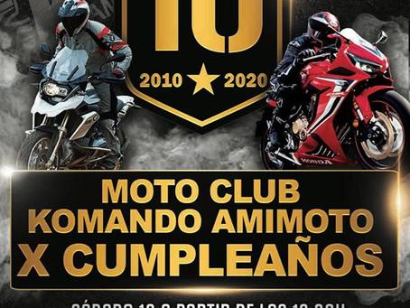 X Cumpleaños Moto Club Komando Amimoto