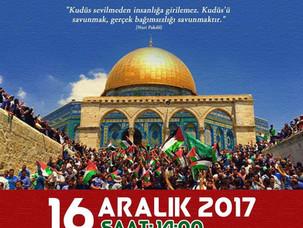 Kudüs için miting - Kundgebung für Jerusalem