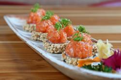 salmão crispy