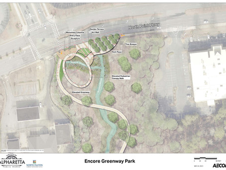 AJC Reports - North Fulton CID approves additional $200K for Encore Park Gateway, Greenway Extension