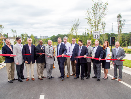 North Fulton Community Improvement District and the City of Alpharetta Cut the Ribbon for the Northw