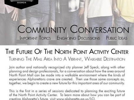 North Point Activity Center Discussion with the City of Alpharetta