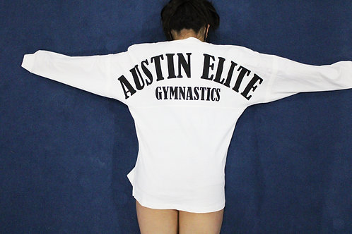 "Adult ""Boyfriend Fit"" Long Sleeve: White"