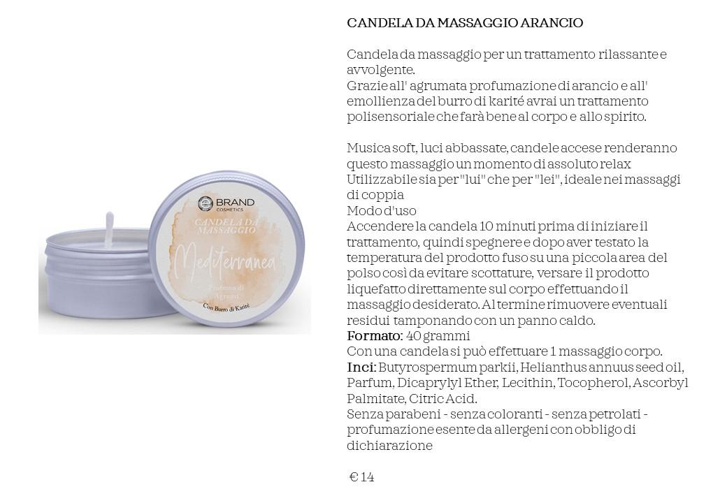 CANDELA DA MASSAGGIO ARANCIO