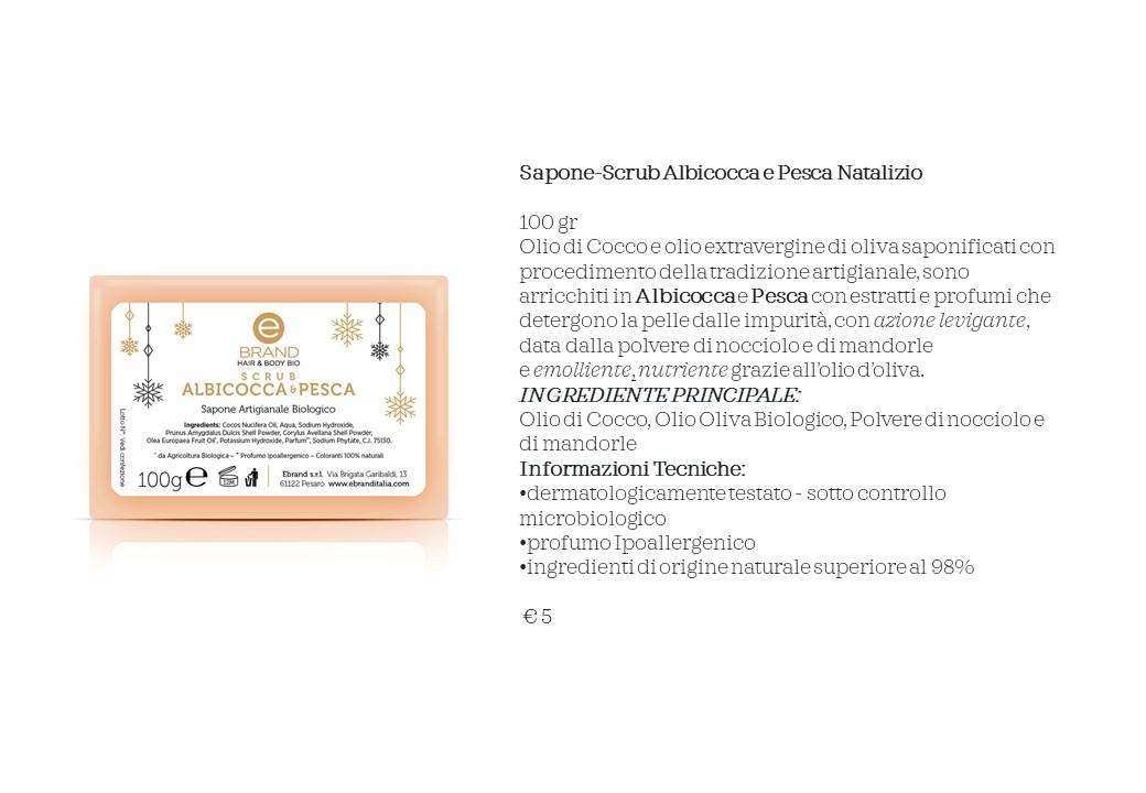Sapone-Scrub Albicocca e Pesca Natalizio