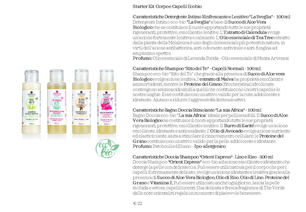 Starter Kit  Corpo e Capelli Ecobio