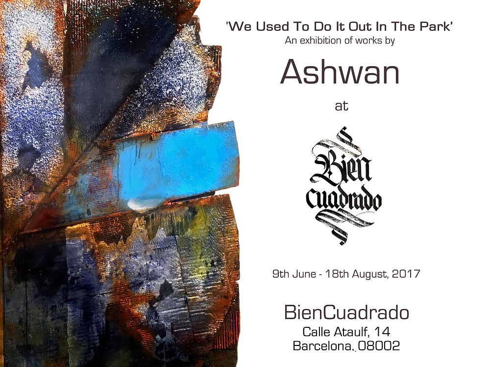 Ashwan exhibition flyer