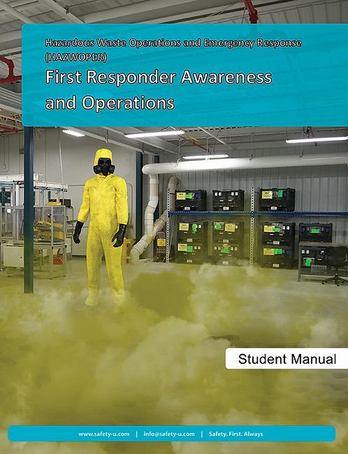 First Responder Awareness and Operations Textbook (HazMat)