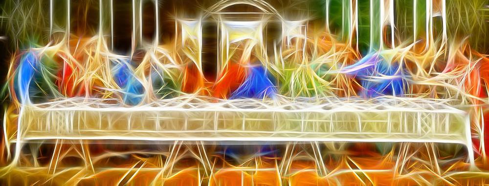 Attributed to Gerd Altmann https://pixabay.com/illustrations/last-supper-board-christianity-5009491/