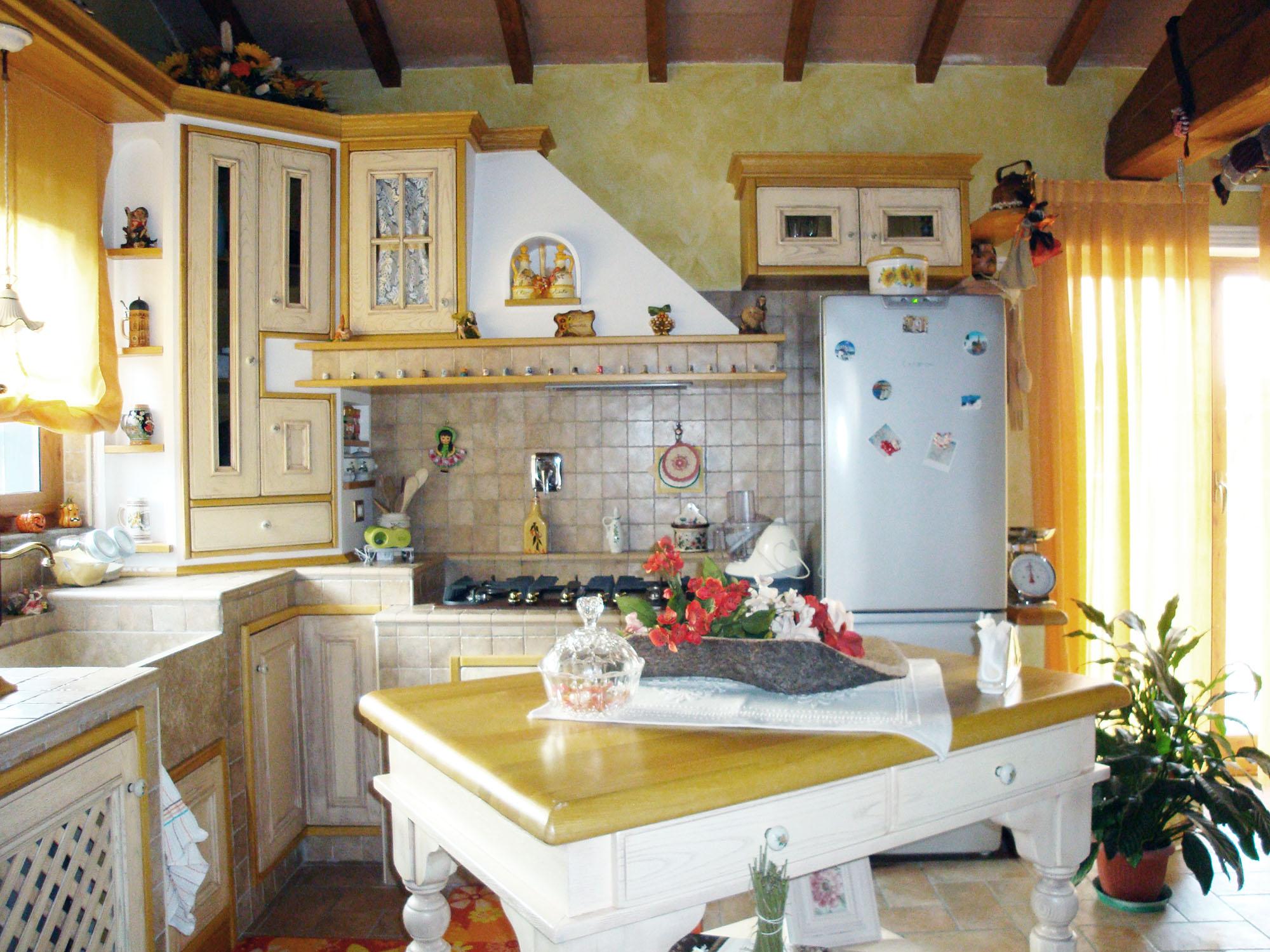 cucina su misura in stile country falegnameria roma 3