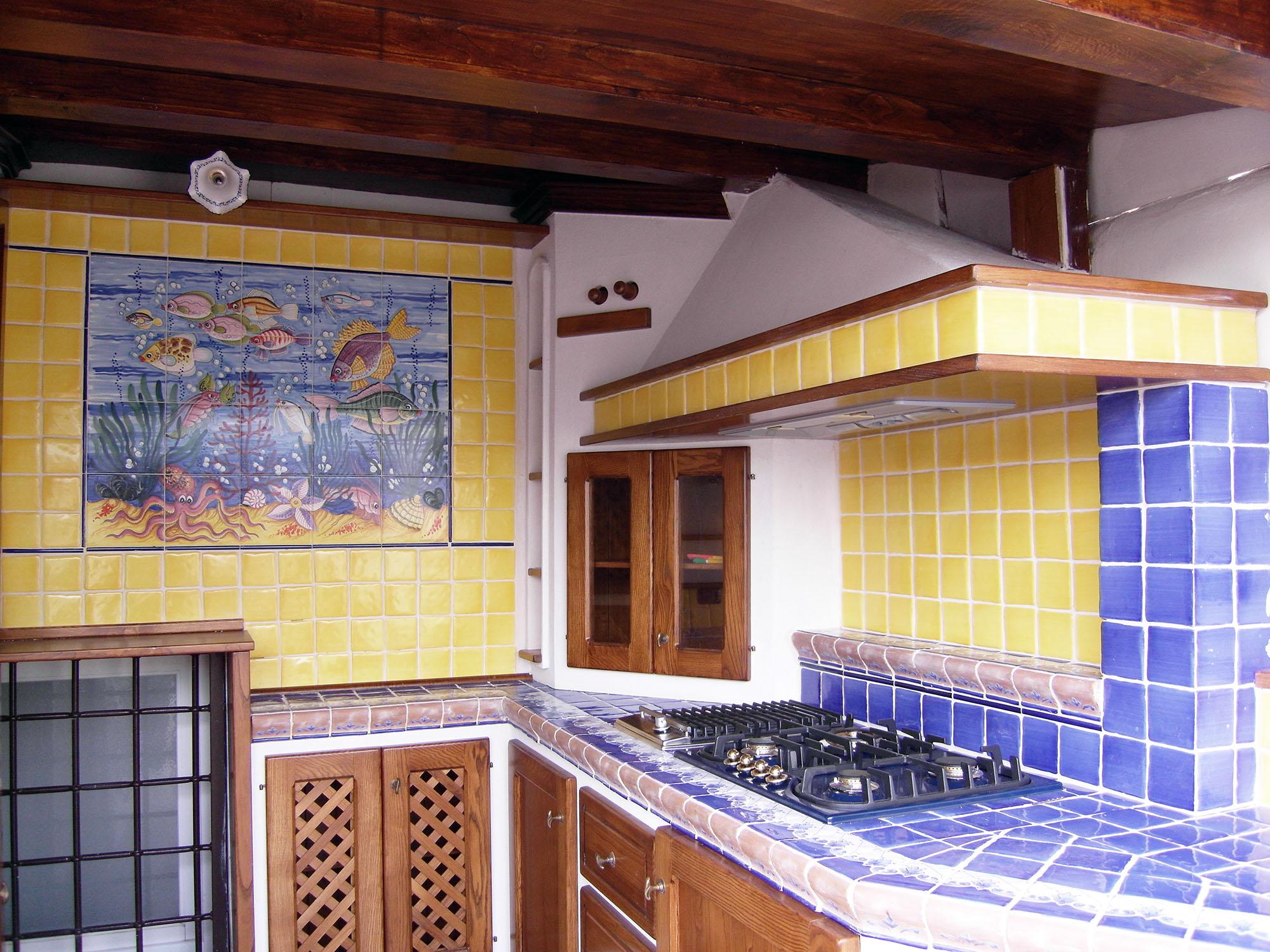 cucina stile country su misura roma falegnameria 1