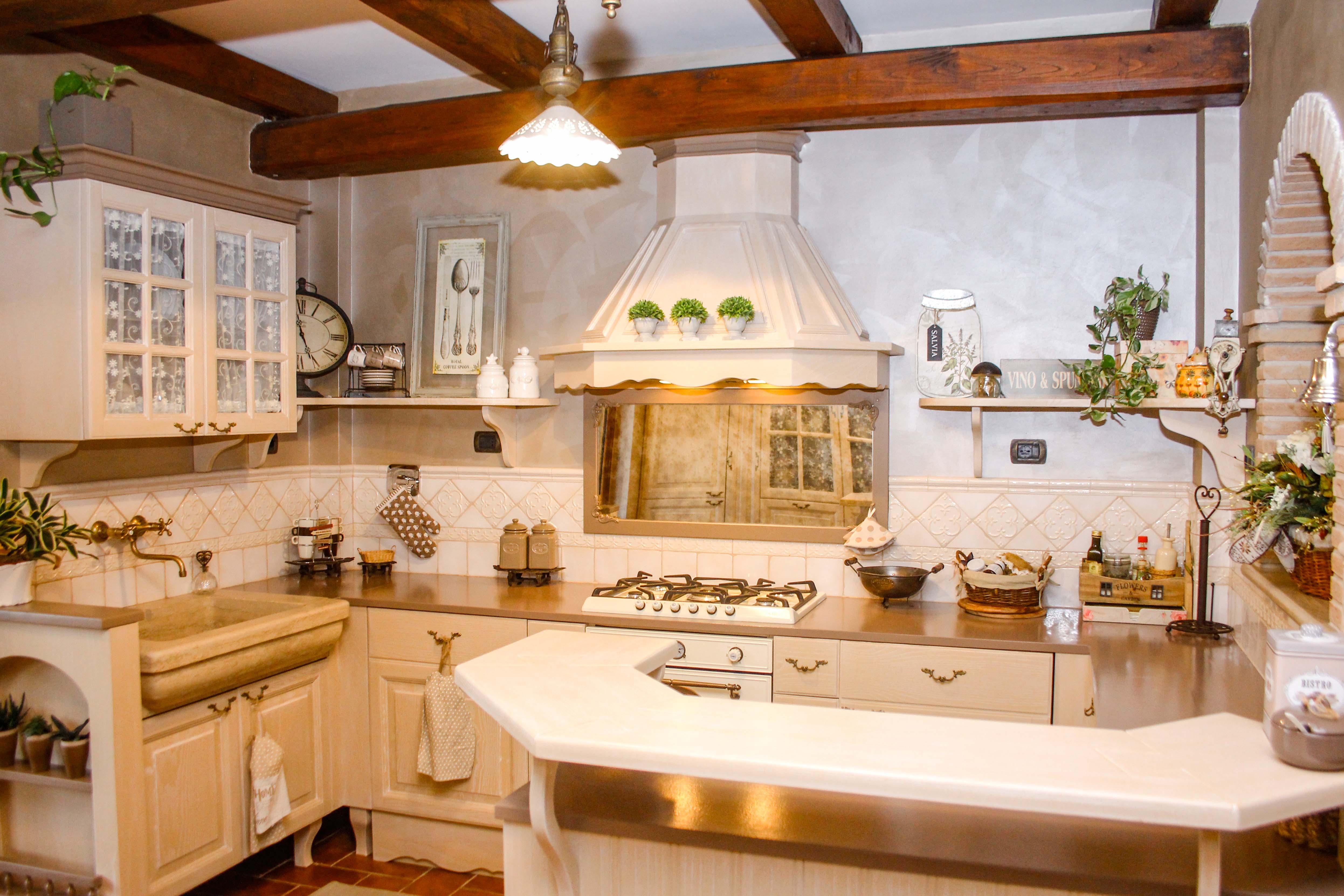5-cucina country-su misura-cucina in leg
