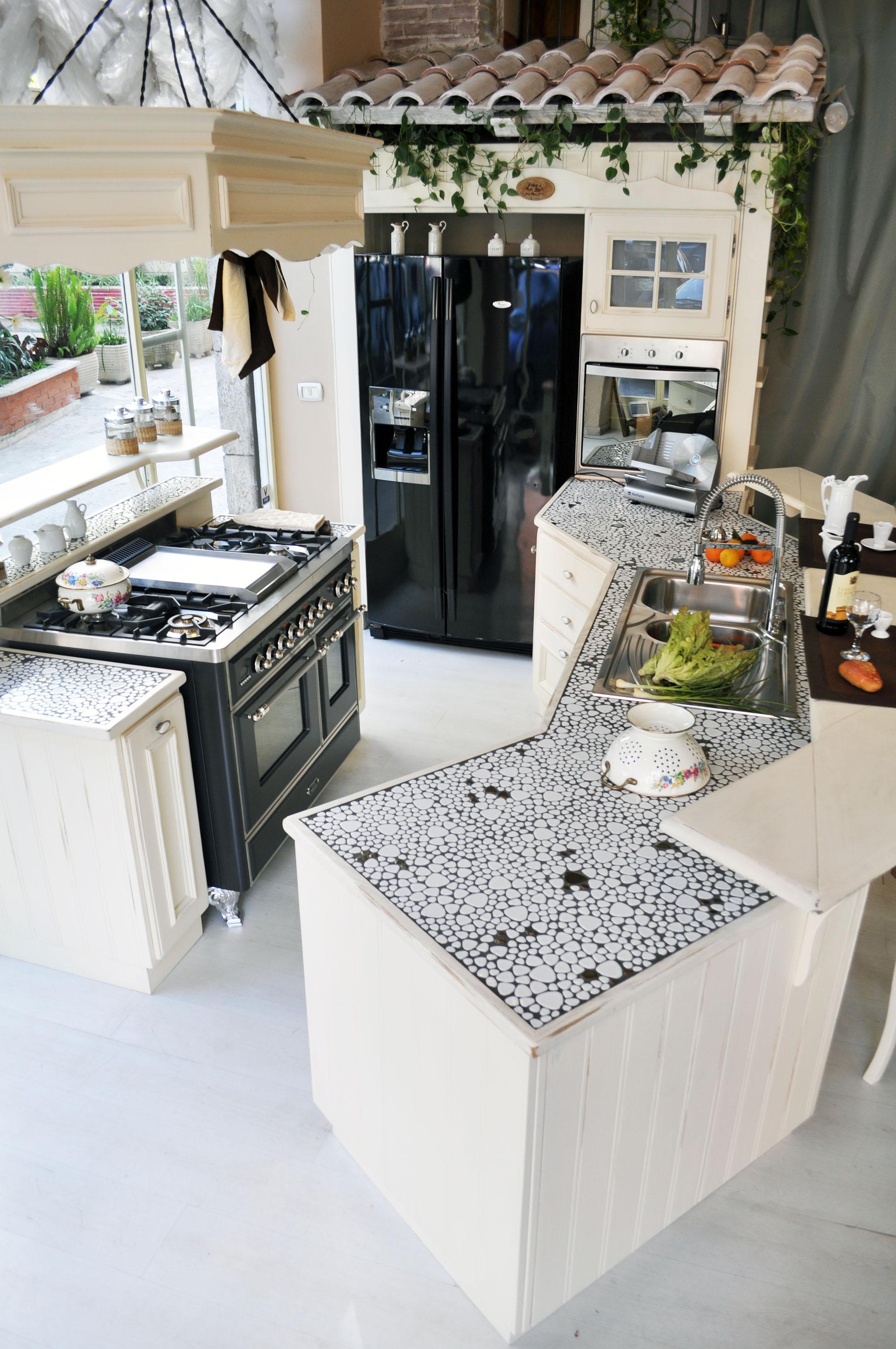 cucina provenzale su misura roma falegnameria 1