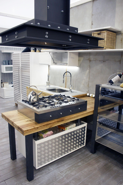 cucina industrial roma falegnameria su misura 1