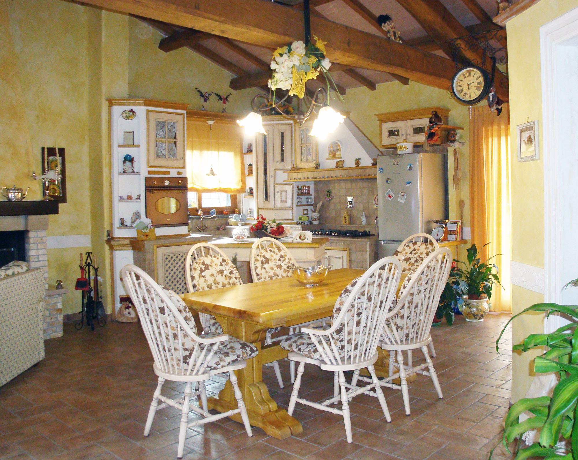 cucina su misura in stile country falegnameria roma