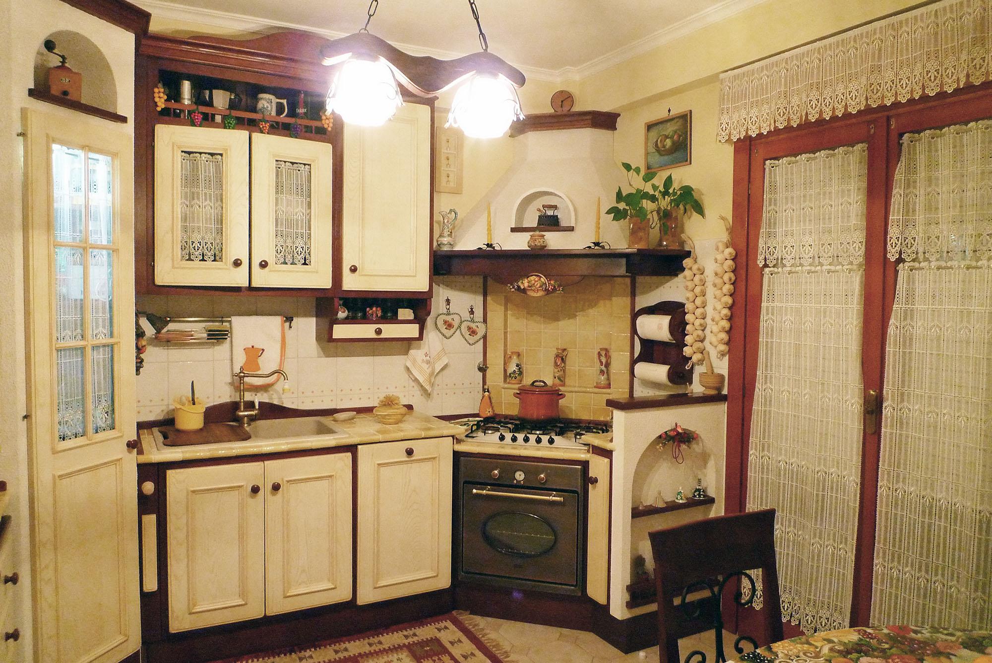 cucina su misura stile country falegnameria roma
