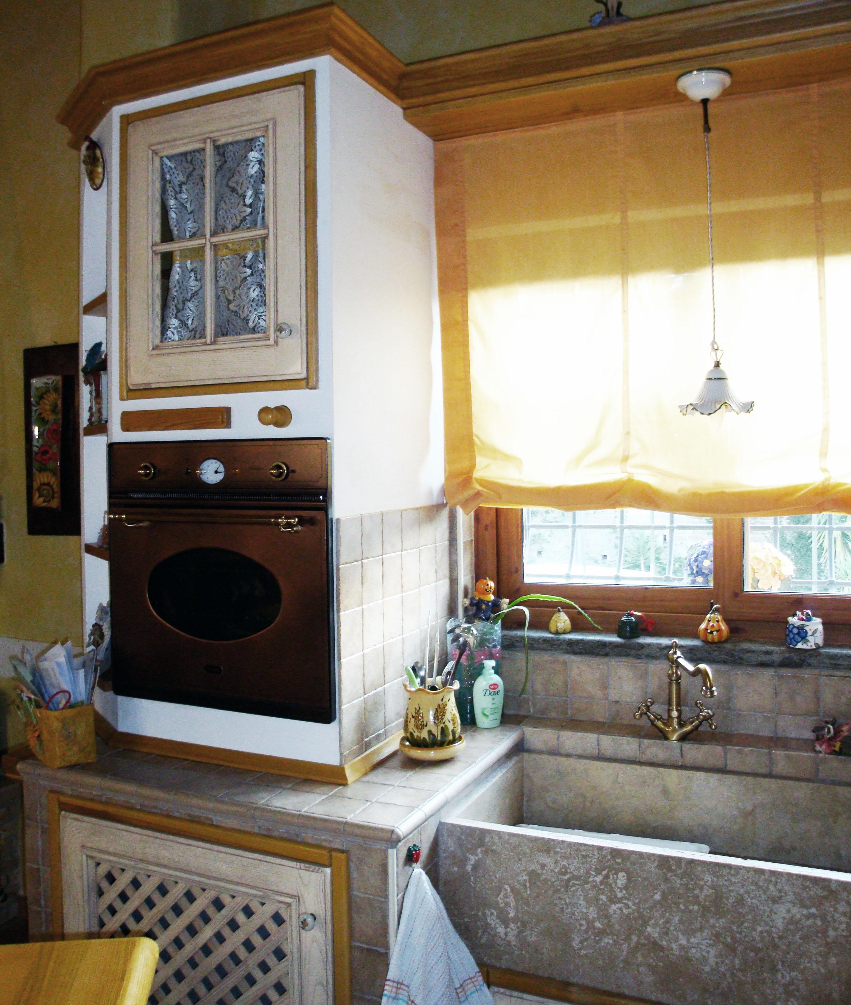cucina su misura in stile country falegnameria roma 1