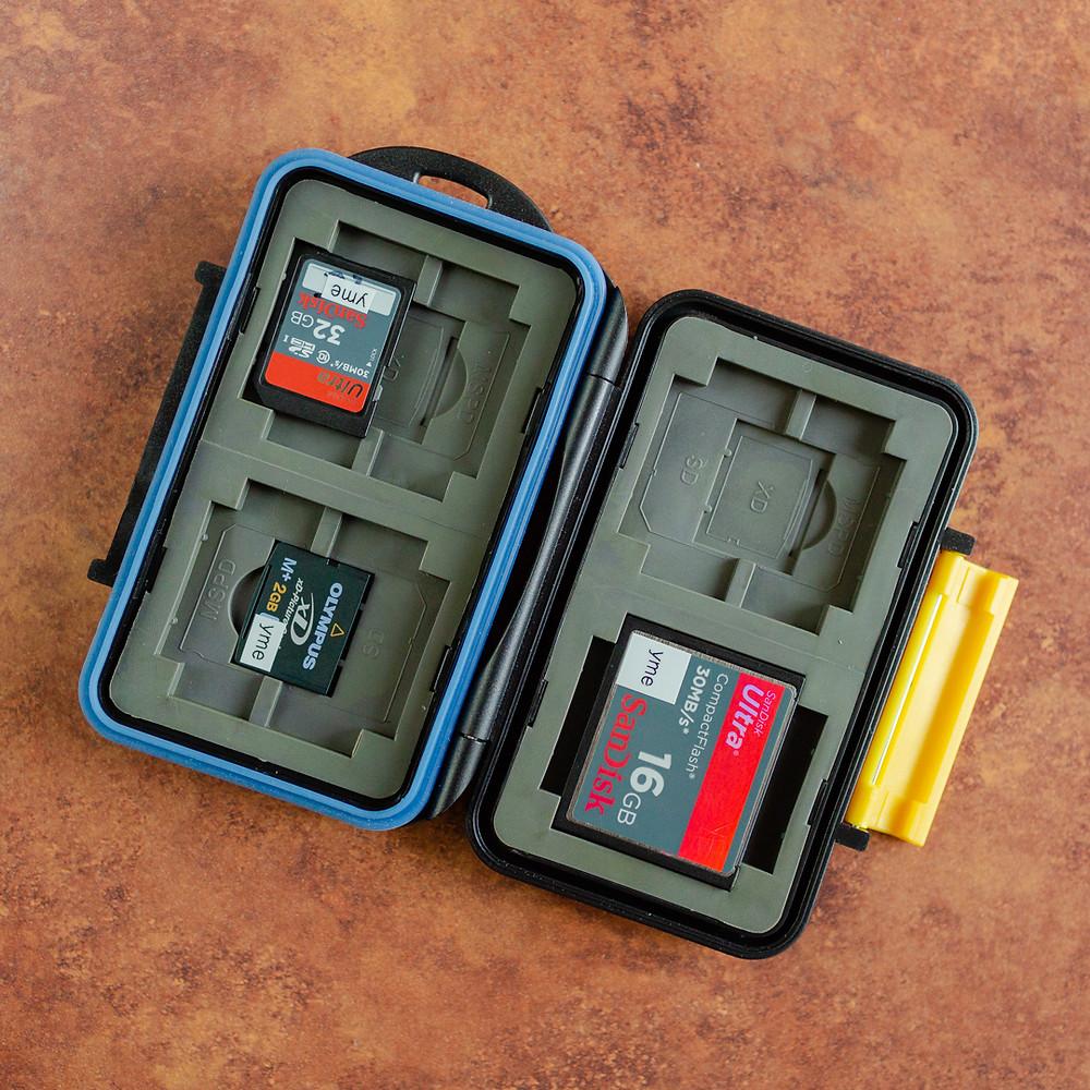JJC MC-3 Water-resistant Holder Hard Storage Memory Card Case