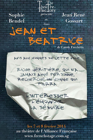The Theatre Factory-Production-Jean et Beatrice