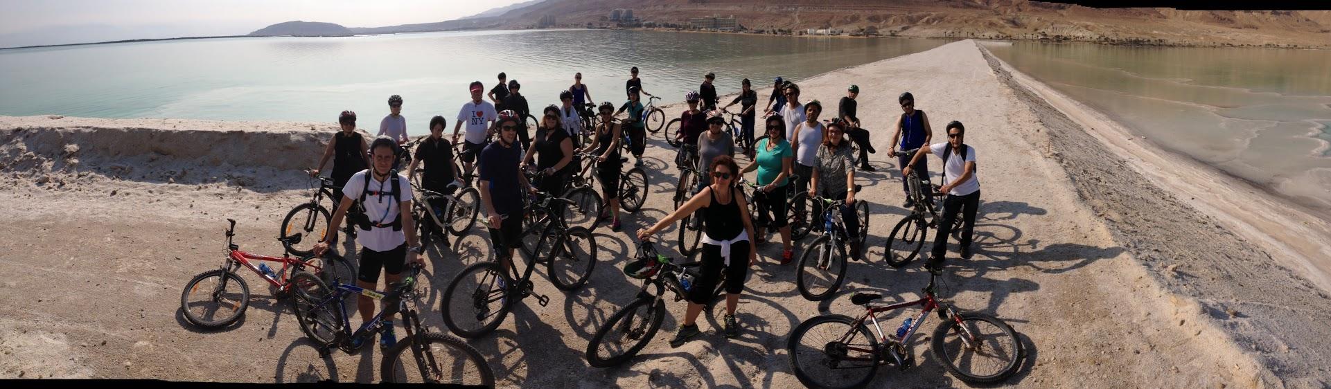 טיול אופניים מאורגן בטיילת בים המלח