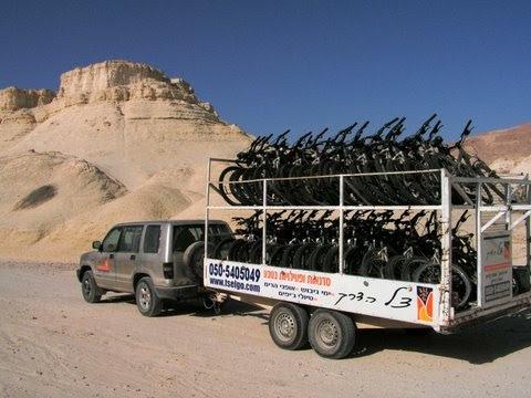 טיול אופניים מאורגן בנחל פרצים