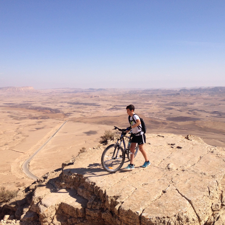 טיול אופניים במצפה רמון-מכתש